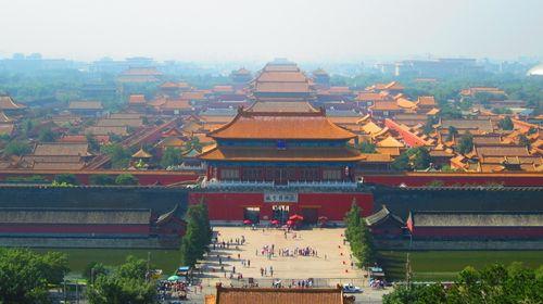 故宫长城建筑物手绘图