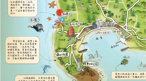 北海公园 手绘地图