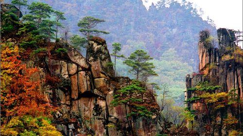 漫山遍野的枫树有如国画大师般,将整个大山渲染成一幅壮阔的山水画.