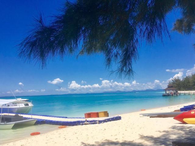 <沙巴亚庇美人鱼岛浮潜二日游>高级私人沙滩入住全新RASA度假村2人起订(当地游)