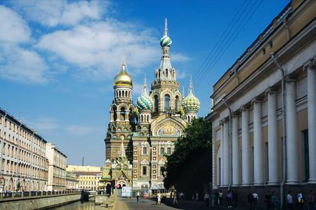 <俄罗斯双都5晚6日深度游>莫斯科上团、叶卡捷琳娜宫、红场、克里姆林宫、冬宫广场、夏宫30人团(当地参)