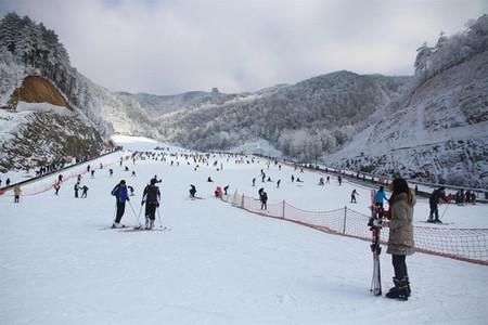 <临安大明山滑雪场1日游>?#23458;?#36175;大明山高山雪景体验高山滑雪