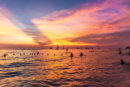 <菲律宾长滩岛5日游>半自助度假,悦时光,郑州直飞,派领队,特含每人一杯芒果冰沙,升级赠日落风帆