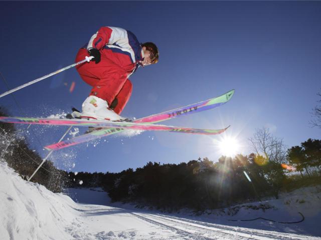 天狗山夜间滑雪
