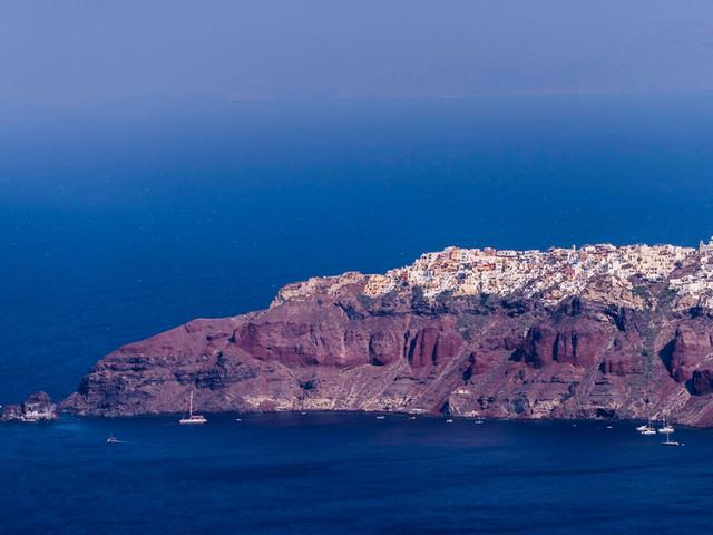 卡美尼岛火山Nea Kameni