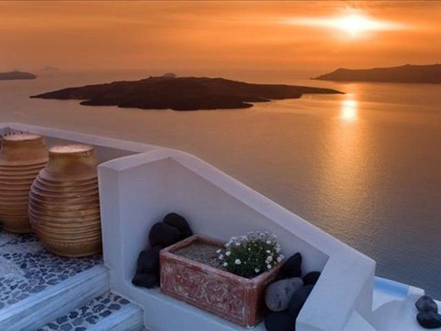 去伊亚镇看全球最美日落
