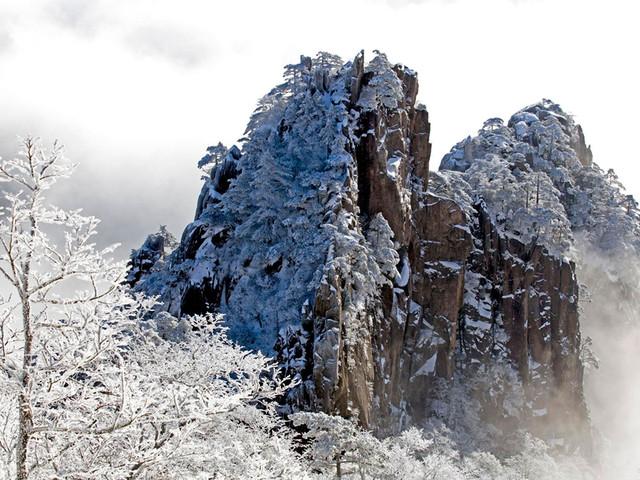 冬游黄山观雪景、赏雾凇