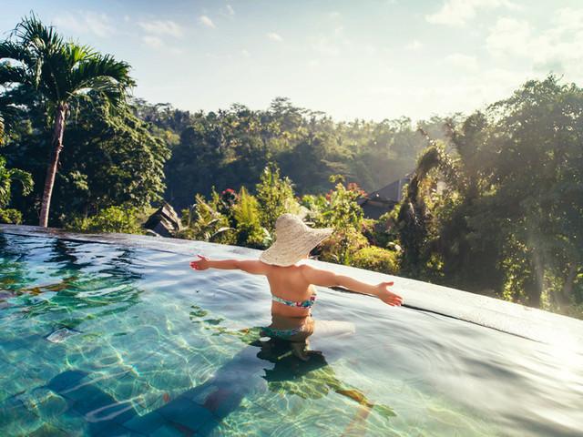 巴厘岛|双层泳池