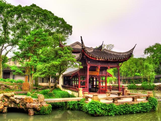 <蘇州拙政園+獅子林+寒山寺+虎丘+山塘街純玩1日游>純玩無購物,360度全景游蘇州,上海出發