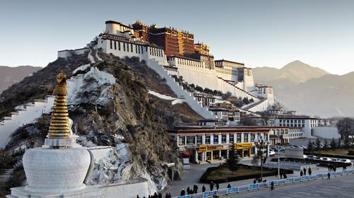 西藏拉萨布达拉宫+林芝