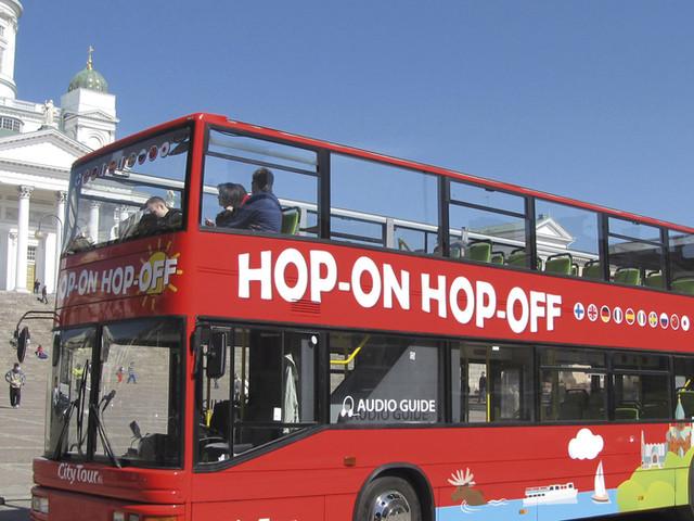 <【赫爾辛基24小時觀光神器套餐】Red Buses隨上隨下觀光巴士 + 1.5小時景觀游輪>