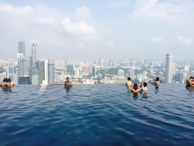 <新加坡滨海湾花园【云雾林+花穹】+空中走廊+金沙网红无边泳池>无需入住酒店,便可体验网红无边泳池