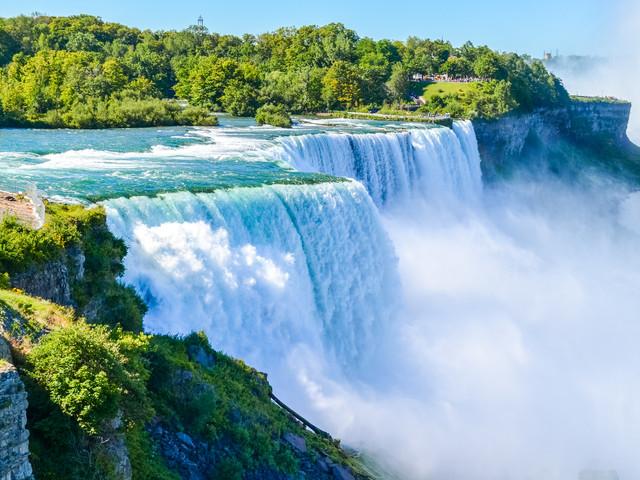 <美國波士頓+尼亞加拉+多倫多+渥太華4日游>(當地參團)波士頓出發從美境和加境兩個角度觀賞世界新七大奇景之一尼亞加拉大瀑布