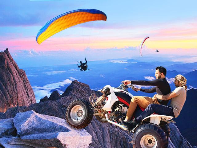 <马来西亚旅游沙巴神山公园一日游 >神山/露天温泉/吊桥/牧牛场/兔子园/空中巴士自助餐 可预订ATV/滑翔伞