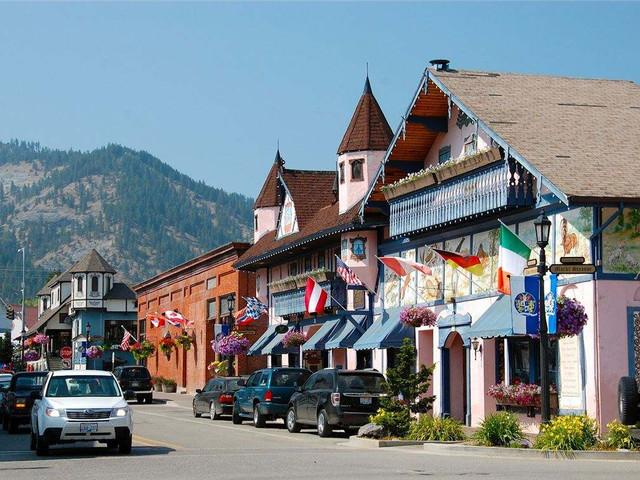 <西雅图德国小镇1日游>世外桃园,欧洲小镇德国村,畅游司诺蕾米瀑布,西雅图德国村