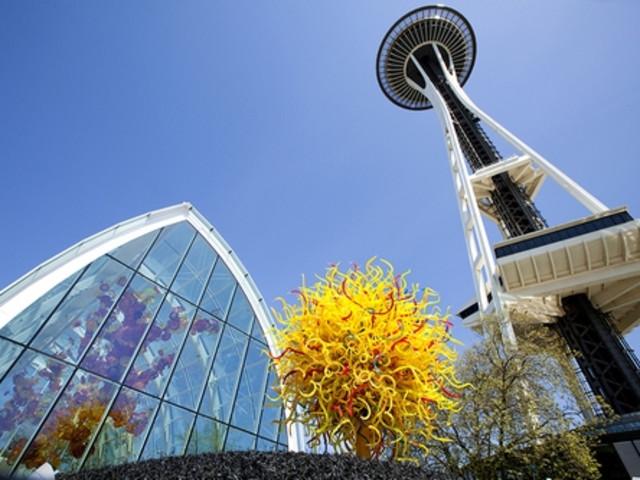 <西雅圖市區1日游>暢游波音飛行博物館,派克市場,太空針塔,音樂及科幻體驗館,先鋒廣場