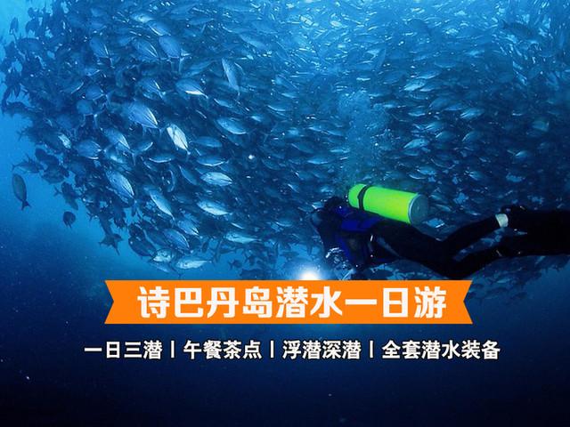 <马来西亚沙巴仙本那西巴丹潜水一日游【午餐茶点/一日三潜/潜水装备/潜水胜地】>