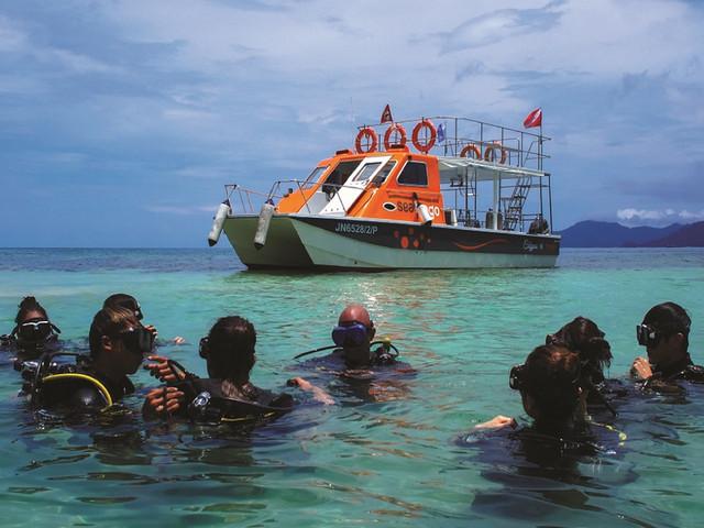 <马来西亚沙巴亚庇东姑阿都拉曼公园水肺潜水体验(适合初学者)>