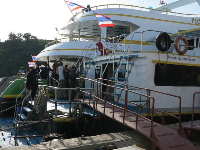 <甲米奥南–皮皮岛码头 单程/返程船票 代订服务【船公司:Aonang Travel】>