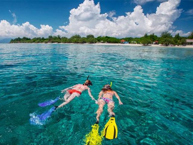 <仙本那海人潜水中心马达京一日游>马达京 班达南 汀巴汀巴跳岛游 GPS定位 中文教练 玻璃船