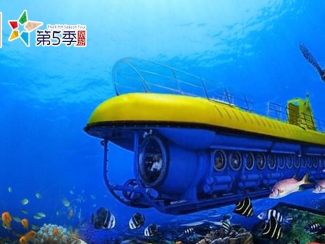 <塞班岛美人鱼号潜水艇观光 世界仅剩8艘的观光潜水艇 (酒店接送+中文服>观察丰富海底生物 战争残骸 老少皆宜亲子