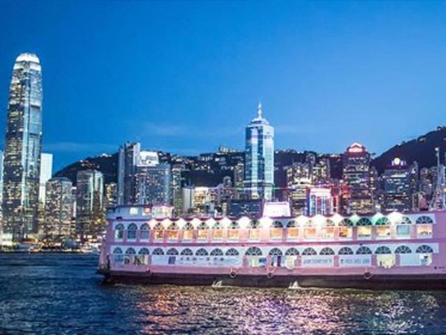 <香港夜游维港 洋紫荆游船(中西自助晚餐+游船)>海上自助餐  快速出票 无需预约