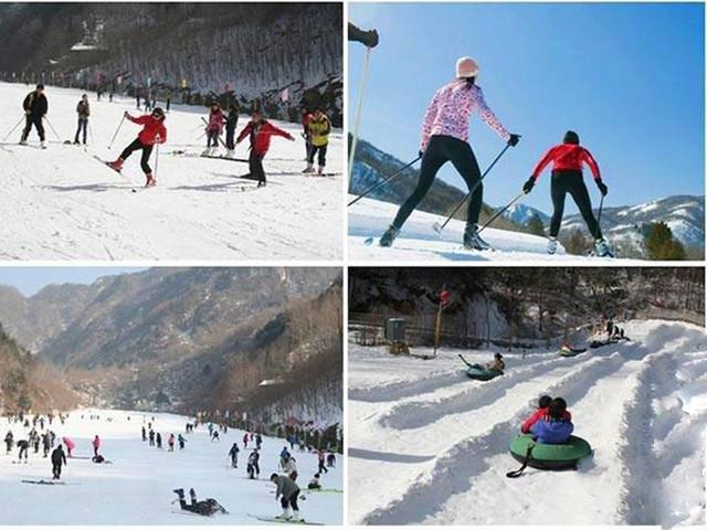 <北京莲花山滑雪场全天不限时滑雪一日游【北京莲花山全天不限时滑雪一日游】>全新的雪具配置,滑雪更加开心