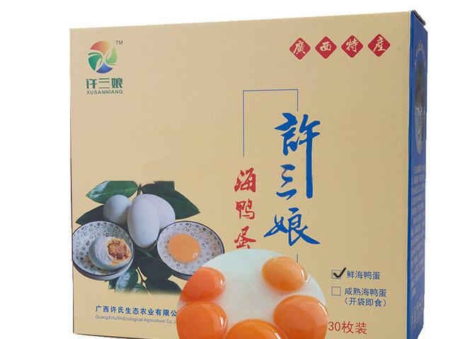 <许三娘海鸭蛋30枚1箱>