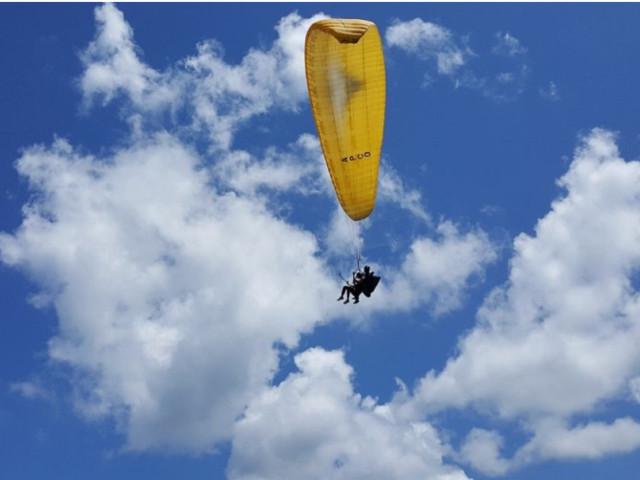 <重庆万盛黑山谷滑翔伞体验-广建航空基地俱乐部>【赠送全程专业视频摄像】