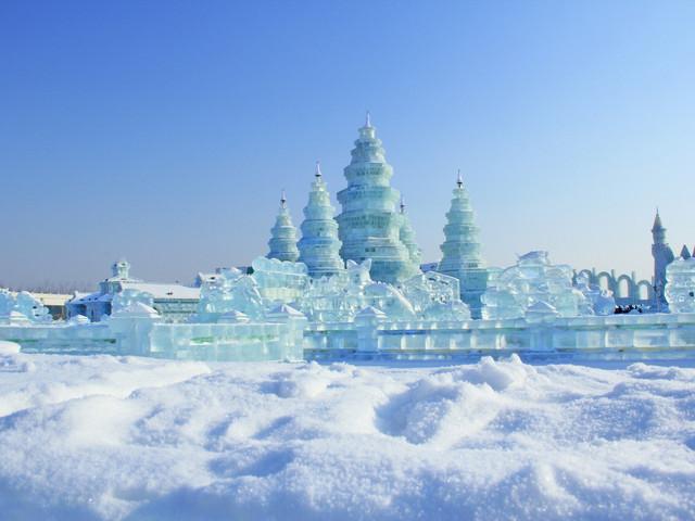 <哈尔滨冰雪大世界直通车1日游>纯玩无购物  最美冰灯夜景 赏冰雪大世界