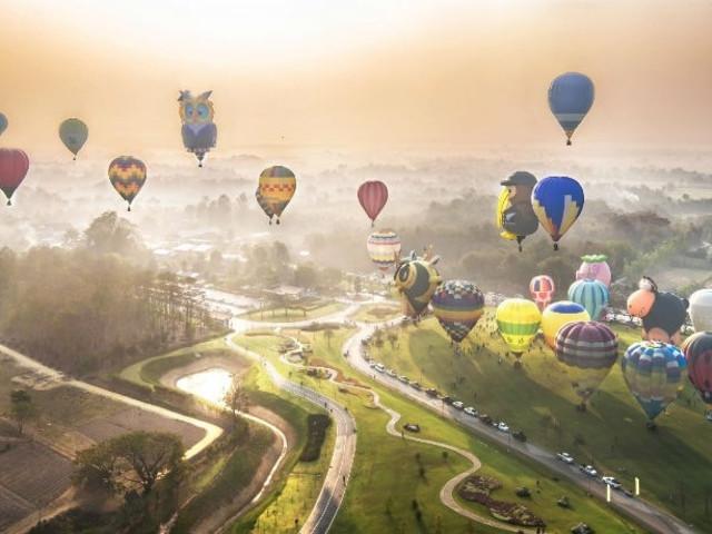 <清迈60分钟热气球之旅>含早餐+酒店接送+飞行证书