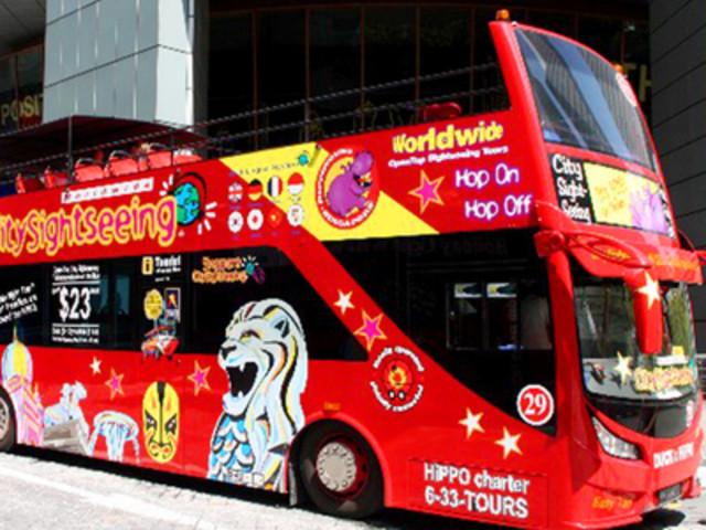 <新加坡FunVee随上随下巴士24小时通票(含中文导览仪)>快速出票