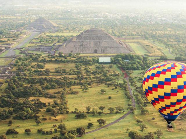 <乘坐热气球畅游墨西哥城特奥蒂瓦坎金字塔 酒店接送>