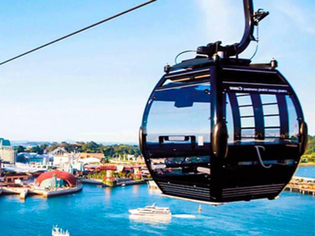 <新加坡空中缆车 双程缆车 花柏山珠宝缆车含入岛费>即时确认 可定当日
