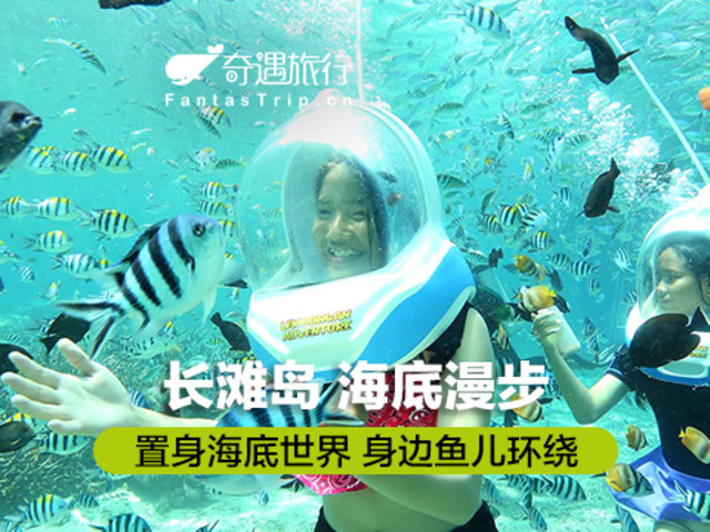 <奇遇旅行 长滩岛海底漫步helmetdiving>喂鱼拍照+赠海底摄像光盘/保持美丽妆容