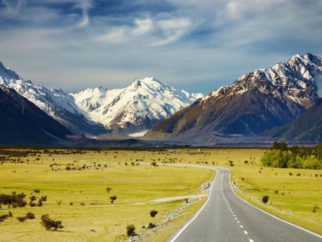 <新西兰旅游-南岛-皇后镇自由行-格林诺奇 魔戒三部曲 门票>乘坐观光喷射快艇抵达无人之处 远眺终年不化的冰川与雪山 徒步穿越万年原始森林