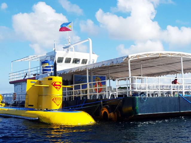 <【菲律宾】长滩岛深海观光潜水艇 海洋世界潜水员表演>