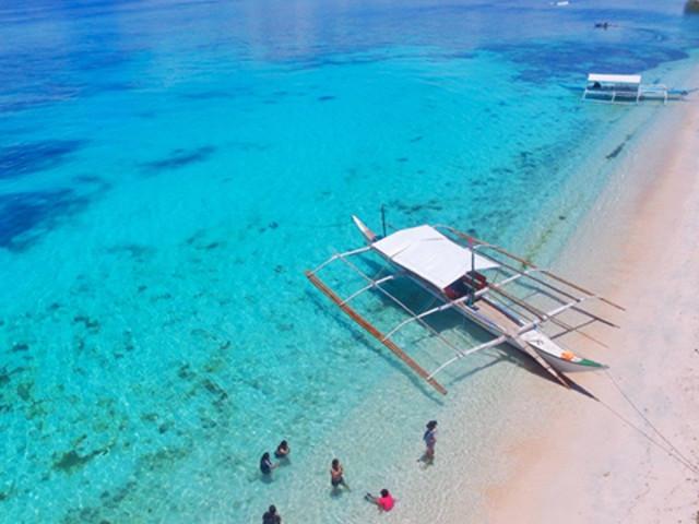 <长滩岛 螃蟹船包船跳岛游 2次浮潜+菲式自助餐 >巴朗海礁+普卡海滩+珊瑚花园+天堂酒店自助餐