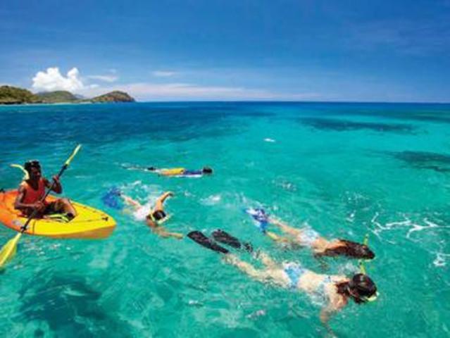 <马来西亚沙巴 沙碧岛+大堡礁快艇浮潜一日游>