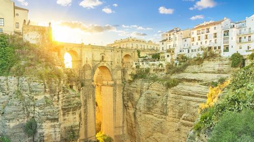 希腊+西班牙+葡萄牙7晚10天游 悬崖小镇龙达