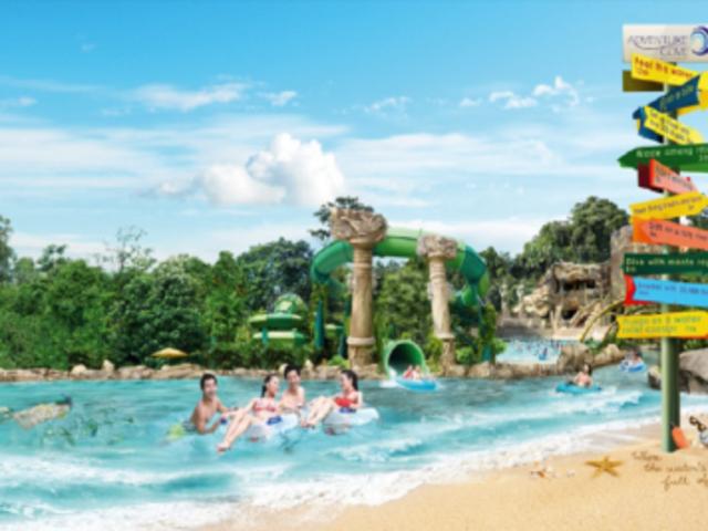 <新加坡圣淘沙水上探險樂園>直接掃碼入園