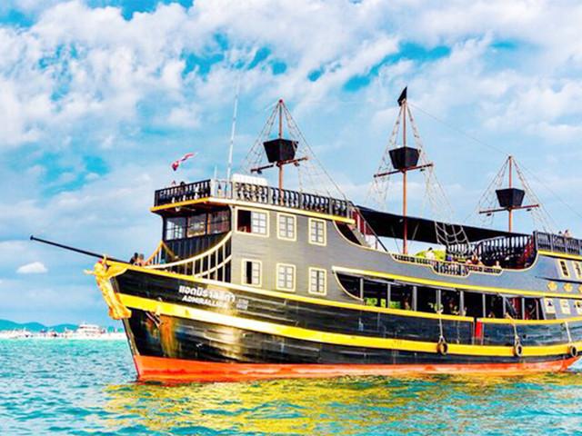 <泰国普吉岛海盗船主题落日之旅一日游>酒店接送 中文导游 自助午餐 泡沫派对 美妙亲子游