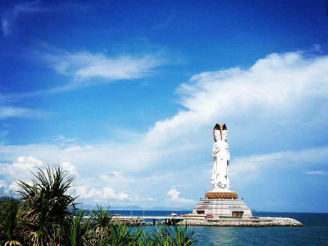 <三亚南山寺+天涯海角1日游>品质双点、登108米海上观音、美丽三亚浪漫天涯