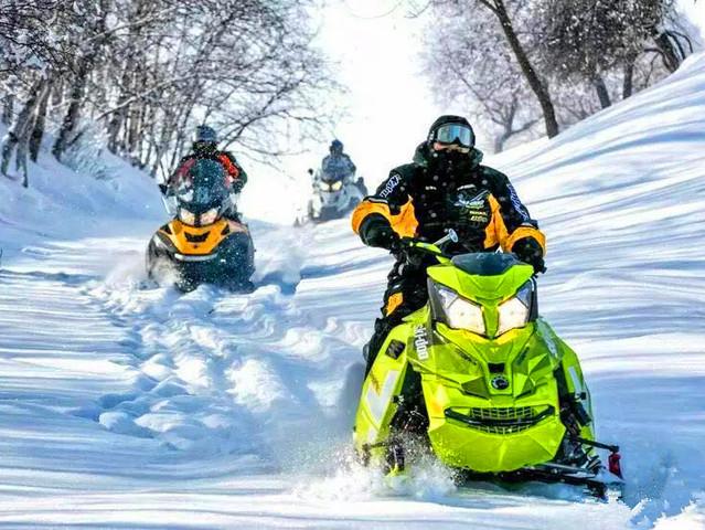 <长白山激情雪地摩托车(万达度假区松江河镇酒店接送)>林海雪原  激情驾驶   返璞归真   雪国赏雪