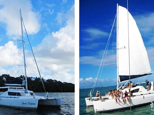 【含水上三項】<毛里求斯鹿島 雙體船 一日游>海底漫步,滑翔傘,皮劃艇,BBQ午餐,全程中文導游