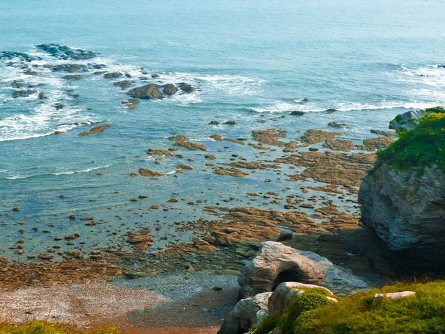 <大连金石滩-国家地质公园1日游>渔船出海垂钓,吃美味海鲜午餐、乘快艇观地质公园赏6亿年前龟裂石、漫步黄金海岸、牛牛陪你踏海戏浪